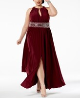 Thumbnail for your product : R & M Richards Plus Size Sleeveless Beaded Gown
