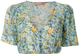 Clube Bossa Runa printed cropped top