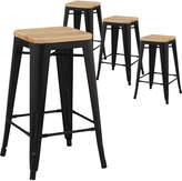 Xavier Pauchard Premium Replica Tolix Bar Stool with Timber Seat