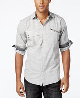 Snap tab collar shirts shopstyle uk for Snap tab collar shirt