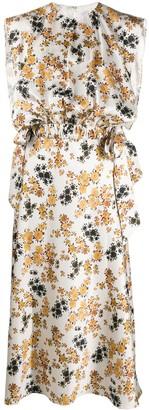 Victoria Victoria Beckham Ditsy Floral Midi Dress