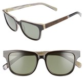 Shwood Women's 'Prescott' 52Mm Acetate & Wood Polarized Sunglasses - Black/ Ivory/ Elm/ G15 Polar