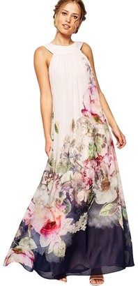 Meibax Clothing MEIbax Summer Women Casual Fit and Flare Floral Sleeveless Dress (2XL