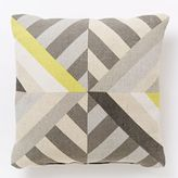 Triangle Stripes Indoor/Outdoor Pillow - Frost Gray