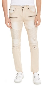 INC International Concepts Inc Men's Ripped Moto Skinny Jeans, Created for Macy's