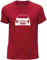 STUFF4 Men's Round Neck T-Shirt/Stencil Car Art / VW Golf GTI Mk1