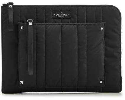 Valentino Quilted Document Case