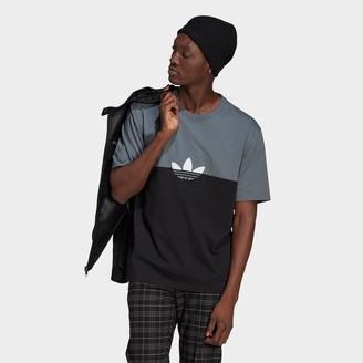 adidas Men's Adicolor Sliced Trefoil Boxy T-Shirt