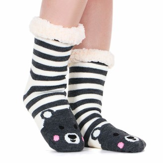 Tacobear Women Fluffy Socks Slipper Socks Super Soft Fuzzy Socks Winter Warm Snowflake Fleece Lined Crew Home Socks for women and girls (unicorn)(Size: One Size)