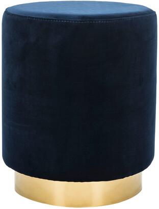 Safavieh Couture Elsworth Velvet Ottoman With Brass Base