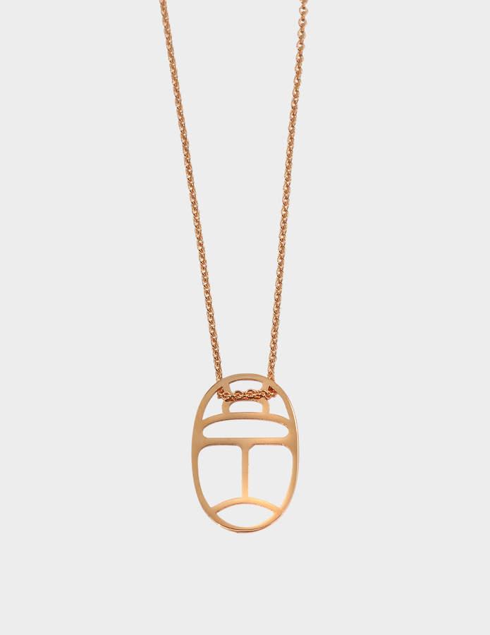 ginette_ny Mini Wish 18-karat rose gold necklace