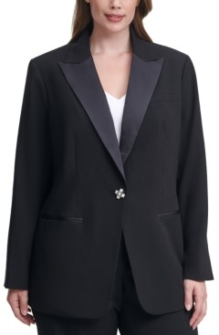 Calvin Klein Size Single-Button Tuxedo Jacket