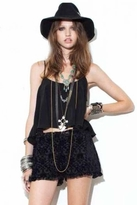 For Love & Lemons Tour Bus Tank in Black