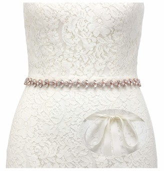 SWEETV Rhinestone Bridal Belt Bridesmaid Sash Crystal Wedding Belt Women Dress Accessories