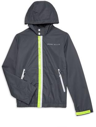 Perry Ellis Little Boy's & Boy's Neon-Trim Windbreaker Jacket