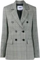 MSGM Prince of Wales check blazer