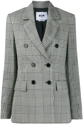 MSGM Prince of Wales check blazer
