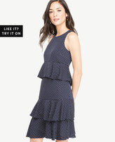 Ann Taylor Polka Dot Tiered Ruffle Dress