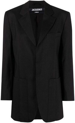 Jacquemus Notched-Lapel Single-Breasted Blazer