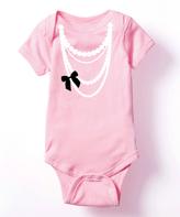 Light Pink Necklace Trompe L'oeil Bodysuit - Infant