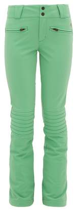 Perfect Moment Aurora Embroidered Flared Ski Trousers - Womens - Green