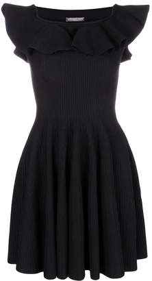 Alexander McQueen off-shoulder flared dress