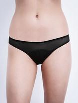 Stella McCartney Cherie Sneezing satin and mesh bikini briefs