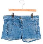 Little Marc Jacobs Girls' Denim Mini Shorts