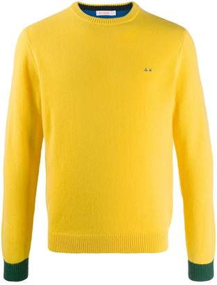 Sun 68 embroidered contrast jumper