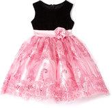 Pink Sequin A-Line Dress - Toddler & Girls
