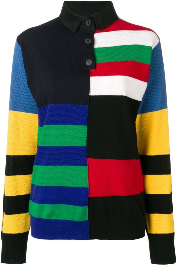 J.W.Anderson Striped Rugby Knitted Top