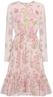 Giambattista Valli Floral silk georgette midi dress
