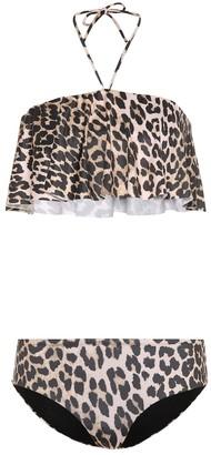 Ganni Nova leopard-printed bikini
