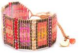 Mishky Nahui Beaded Stone Cuff Bracelet