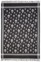 Alexander McQueen Black & Ivory Skull Blanket