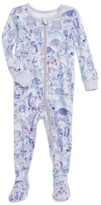 Tea Collection Infant Girl's Frith Print Fitted One-Piece Pajamas
