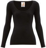 JoosTricot Peachskin Scoop-neck Cotton-blend Sweater - Womens - Black