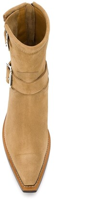 R 13 Ankle Engineer buckled boots