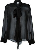 Armani Collezioni neck tie blouse