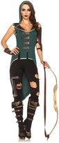 Leg Avenue Women's 5 Piece Rebel Robin Hood Costume