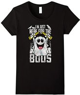 Women's I am Just Here for the Boos Halloween Drinking Party T-Shirt Large