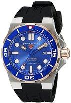 Swiss Legend Men's 10062A-SR-03-SM-RDB Abyssos Analog Display Swiss Automatic Black Watch