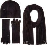 Calvin Klein Women's Three-Piece Hat, Scarf and Flip Tip Glove Set