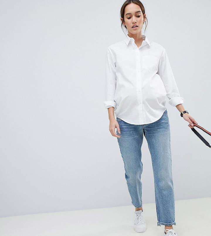 753877df60e9d Light Wash Maternity Jeans - ShopStyle