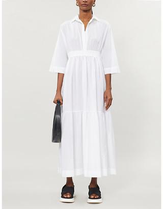 Max Mara Latino tiered cotton-poplin midi dress
