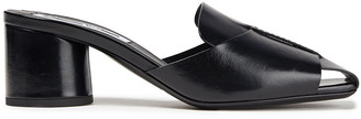 McQ Strength Glossed-leather Mules