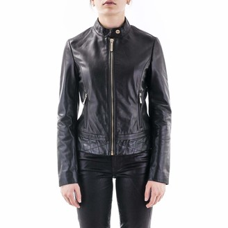 Trussardi Jeans Women's Jacket Biker Soft Touch Leathe Leather