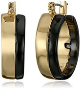"Robert Lee Morris Armored Architecture"" Two-Tone Small Hoop Earrings"