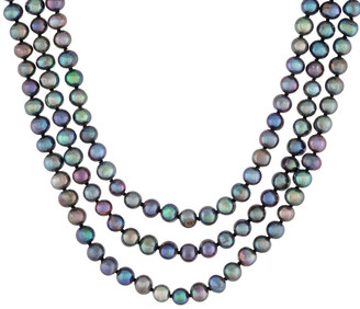 Splendid Pearls 6-6.5Mm Freshwater Pearl Endless Necklace