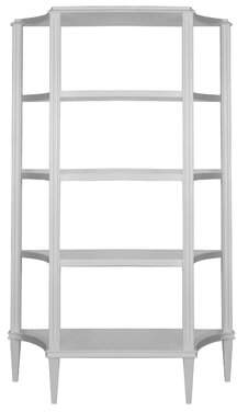 Worlds Away Etagere Bookcase Color: White